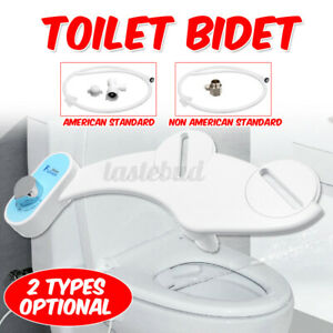 Non-Electric Toilet Bidet Seat Dual Water Spray Mechanical Two Function For Home