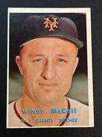 F64365  1957 Topps #291 Windy McCall GIANTS