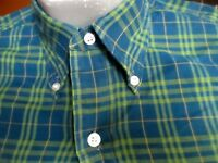 XXS True Vtg 70's ARROW CUM LAUDE SANFORIZED OXFORD COLLAR PLAID DRESS SHIRT USA