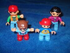 Lego Duplo Ville Familie Mama Papa Mädchen Zöpfe Kind Figur Männchen Pink Braun
