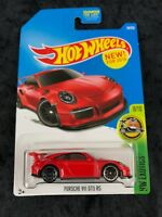 Hot Wheels 2016 HW Exotics Red Porsche 911 GT3 RS