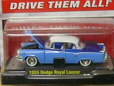 1955 Dodge Royal Lancer Blue/White 1:64 Scale M2 Diecast