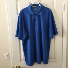 Tommy Armour Mens Shirt Blue XXL 2XL Dri Logic Polo Golf  Short Sleeve F12