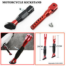 Motorcycle Adjustable Kickstand Foot Brace Parking Leg Foot Side Support Stand