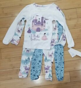 Just One You By Carter's Girls 4-Piece Princess Castle Snow Pajama Set Size 5T