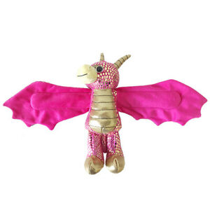 NEW PLUSH SOFT TOY Wild Republic 21676 Huggers Pink Gold Dragon Cuddlekins 20cm