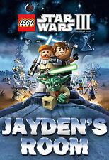 057 LEGO STAR WARS LUKE SKYWALKER YODA CUSTOMIZED DOOR ROOM POSTER