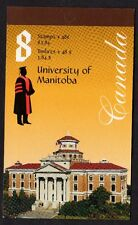 Canada Stamp Booklet University of Manitoba 2002