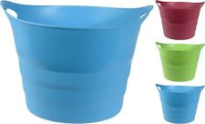 Large 43Ltr Trug Flexi Tub Bucket Laundry Basket With Handles Feed Water Storage