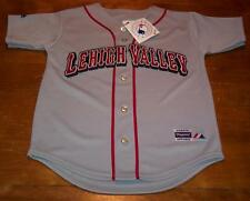 LEHIGH VALLEY IRON PIGS MINOR LEAGUE BASEBALL STITCHED JERSEY YOUTH SMALL NEW