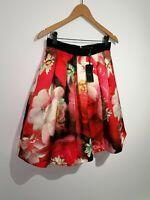 Ted Baker 2 UK 10 Monny Rose On Canvas Full Skirt Pink NWT RRP £129
