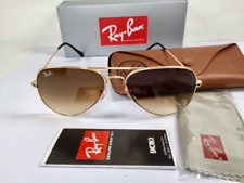 Ray Ban RB 3025 Aviator Sunglasses 001/51 Gold Frame Brown Gradient Lens 58mm