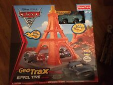 Disney Pixar Cars 2 GeoTrax Eiffel Tire Crash Finn McMissile & More! New in Box!