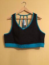 Torrid Active Sports Bra - Size 3 (22-24) NWT Black & Teal