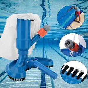 Schwimmbad Pool Boden Reinigungsset Vakuum Staubsauger Kopf Bürste Auffangsack
