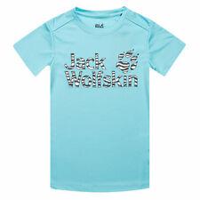 Infant Girls Jack Wolfskin Jungle T-Shirt In Light Blue- Short Sleeve- Ribbed