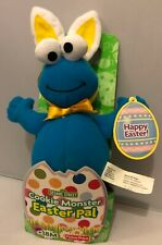 Fisher Price Sesame Street Cookie Monster Easter Bunny Plush NWT🍪🍪🍪