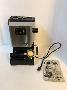 Gaggia CLASSIC Espresso Cappuccino Machine Stainless Steel ~See Description