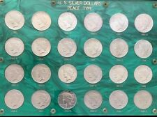 Fabulous 1921-1935 Peace Dollar Complete Set, Lustrous CH/BU, Nicest Anywhere