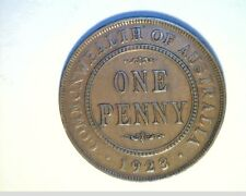 1923 Australia, Lg One Penny, Circulated High Grade Bronze Coin (Aust-93)