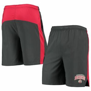 Men's Russell Charcoal Ohio State Buckeyes Athletic Fit Color Block Training