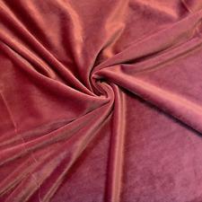 Dusty Rose Fabric, Stretch Velvet Fabric By The Yard, Fashion Fabric Velvet Yard