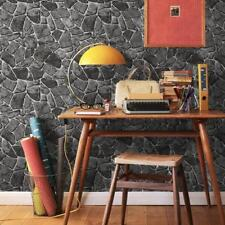 3D Faux Marble Stone wall stickers Wood Panel Pattern Paper Decorating Wallpaper