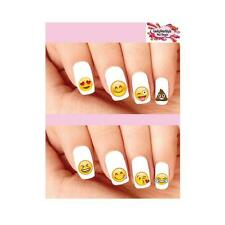 Waterslide Emoji Nail Decals Set of 20 - Emojis Smiley Face Hearts LOL Assorted