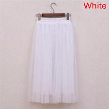Tulle Skirts Casual High Waist Long Skirt Elastic Waist Fluffy Tutu Skirt JD