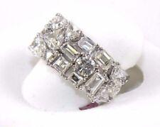 Anillos de joyería con diamantes aniversario de oro blanco fantasía