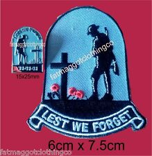 lest we forget Bikers Pin and Patch combo