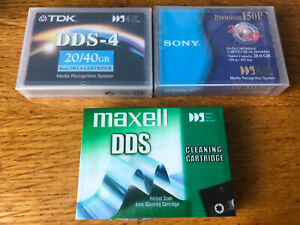 Sony DGD150P & TDK - DDS-4 Tape Drive Data + Cleaning Cartridge NEW Sealed x3