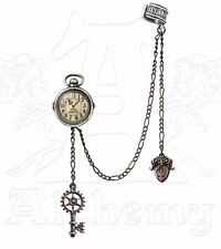 Uncle Albert's Fob Timepiece Steampunk Chain Key Ear Cuff Earring E349 Alchemy