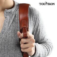 Tourbon Vintage Rifle Gun Sling Shotgun Straps Deer Hunting Real Leather 2 Point