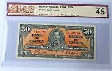 Bank Of Canada 1937 $ 50 Dollars BC-26c Coyne - Towers EF XF 45