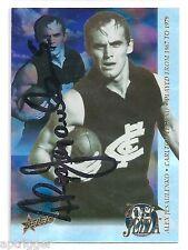 1995 Select SIGNED Just Jezza Foil (JJ1) Alex JESAULENKO Carlton ***