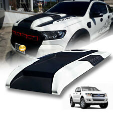 MATTE MATT BLACK WHITE HOOD SCOOP BONNET FOR FORD RANGER T6 MK2 MK3 PX3 12-2020