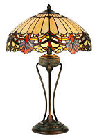 Tiffany Style Louisiana Stained Glass Table Lamp