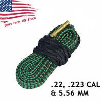 Bore Snake Barrel Cleaner Bore Rope for 22 223 Cal 5.56mm Rifles & Handguns US