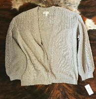 Style & Co Gray Cardigan Women's Size XS Sweater NWT