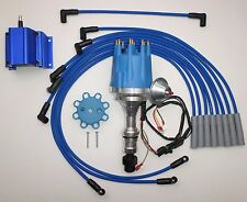 Small Cap OLDSMOBILE 350,400,403,455 BLUE HEI Distributor+ 50k Coil+ PLUG WIRES