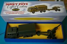 COFFRET VIDE INEDIT  CAMION MILITAIRE  BERLIET+ OBUSIER 155 ABS  DINKY TOYS 818