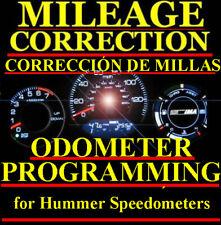 Hummer H2 H3 Speedometer Instrument Gauge Cluster Mileage Odometer PROGRAMMING