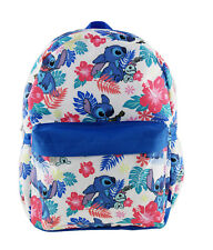 """NEW ARRIVE Disney Lilo and Stitch Allover Print 16"""" Girls Large School Backpack"""
