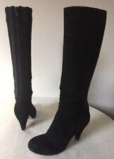 Indigo By Clarks Mia Catherine 33128 Black Suede Heel Boot Women's Size 6