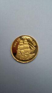 """1/25 oz 999er Gold Pitcairn Island 1999 """"Hms Fly"""" 1999"""