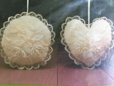Nosegays Sachets Erica Wilson Queen Ann Lace Ribbon Embroidery Crewel Set of 2