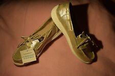 New Women's Size 9 Croft & Barrow Jesika Silvery Gold Glisten Boat Shoes $59.99