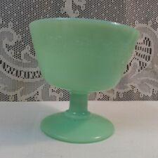 Vintage McK Jadite Pedestal Compote Fruit Custard Cup McKee Glass