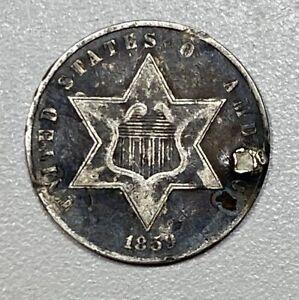 1859 3CS Three Cent Silver